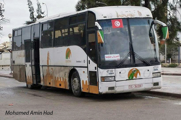 Buses in Kairouan, Tunesia, by Mohamed Amin Had